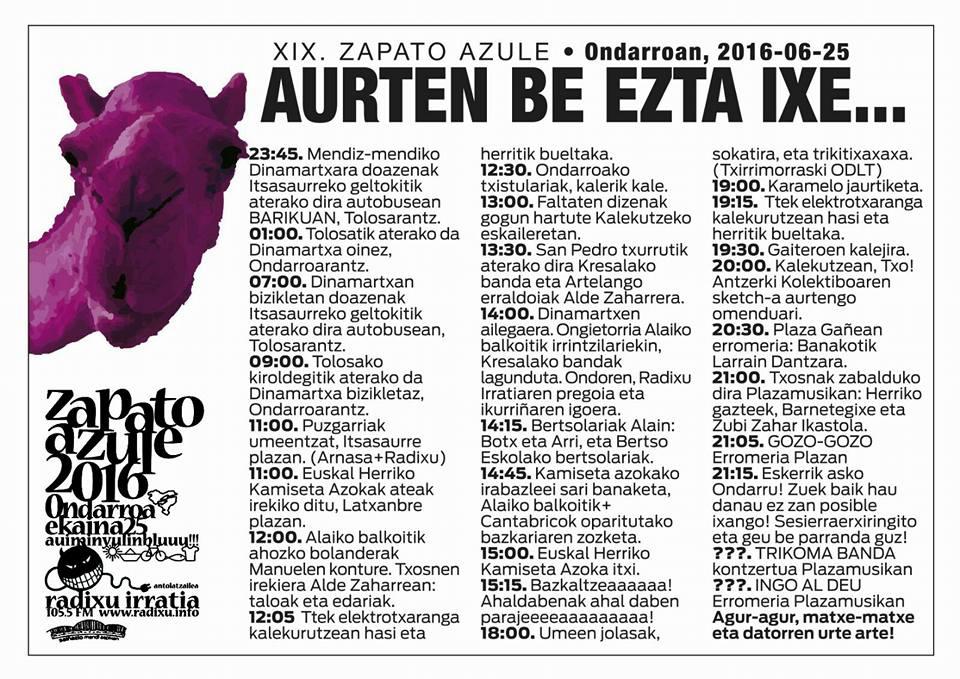 2016ko egitarau 2016ko ZAPATO egitarau ZAPATO egitarau ZAPATO AZULEko AZULEko 2016ko AZULEko Uw50qUX