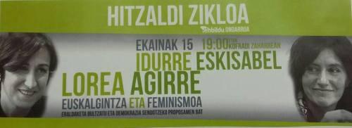 ekainak 15 euskalgintzi eta feminismu hitzaldixe