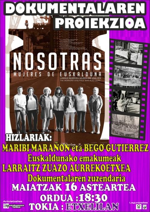 maiatzak 16 dokumentala NOSOTRAS Mujeres de EUSKALDUNA