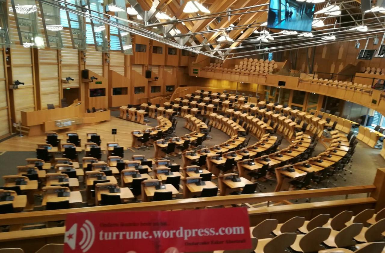 TURRUNE eskoziako parlamentun 2018-04-06