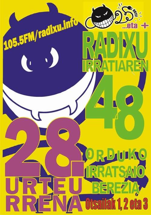radixu irratia 28. urteurrena
