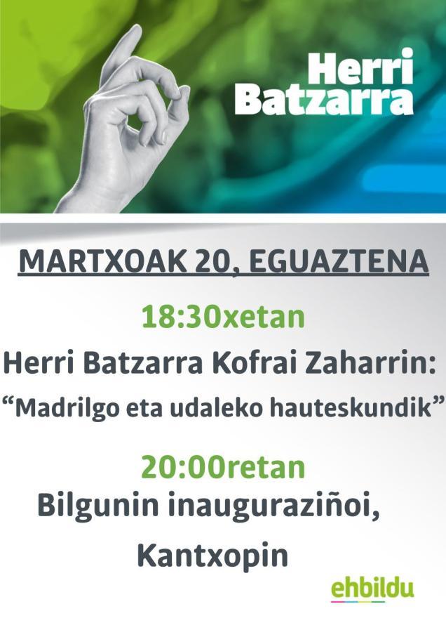 2019ko martxoak 20 EH Bilgune inauguraziñoi