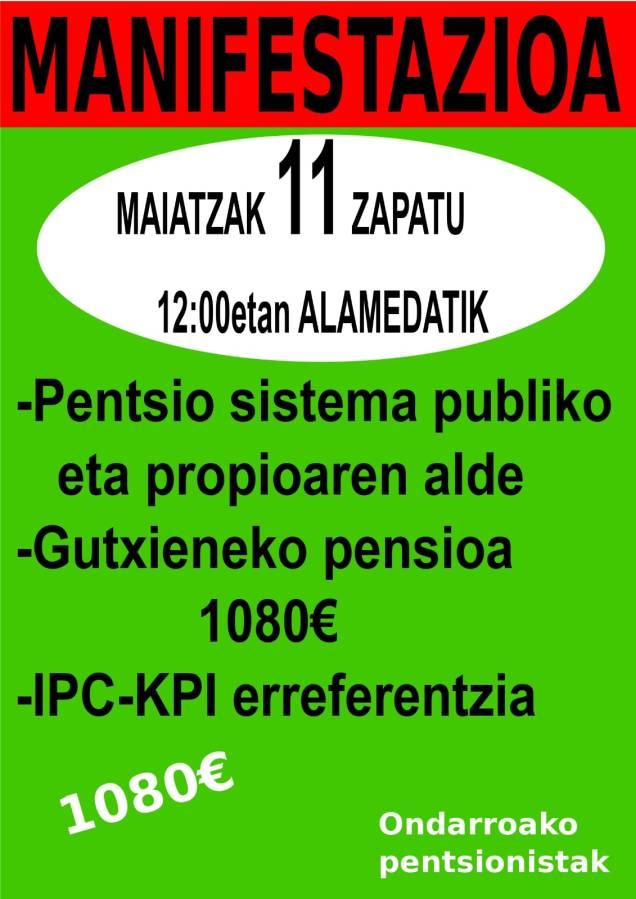 2019 Maiatzak 11 PENTSIONISTAn manifi