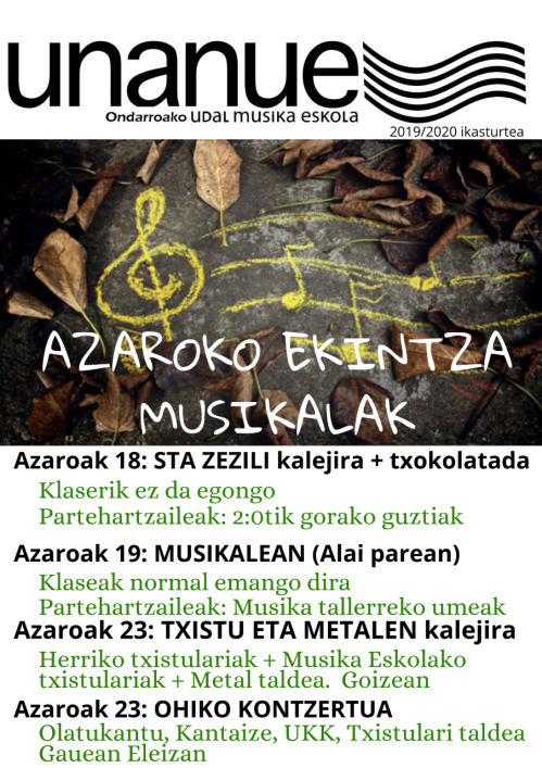 azaroko ekintza musikalk